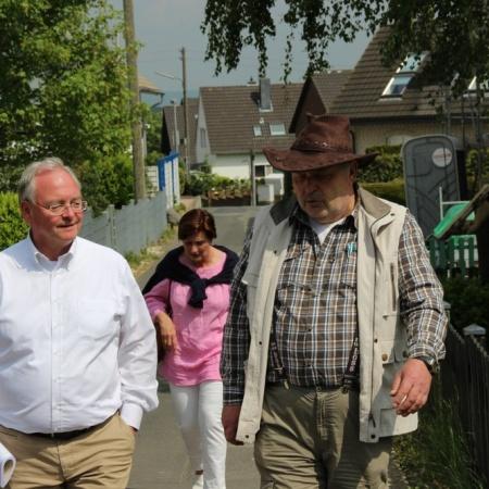 Beckschäfer vor Ort in Adendorf und Werthhoven (Mai 2014)