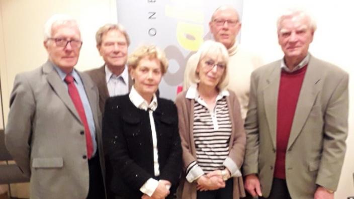 v.l.n.r. Reinhard Hertz, Werner Thiele, Angelika Wichert, Dr. Angelika Pick, Dr. Dieter Braun, Karl Schmitz