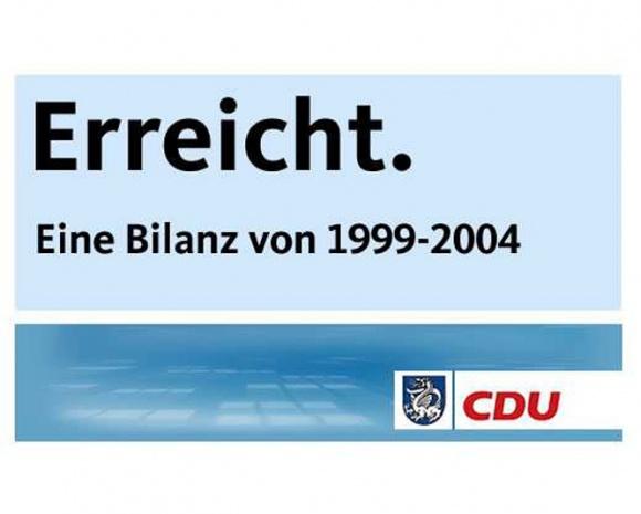 Bilanz der CDU-Ratsfraktion von 1999 bis 2004: Erfolgreiche Politik für Wachtberg.